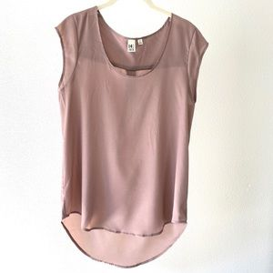 Nordstrom's 14th & union mauve short sleeve top